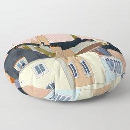 france brittany houses shape art Floor Pillow