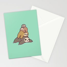 Sloth Stack Stationery Cards