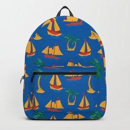 Boat Summer Pattern Backpack