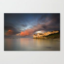 Sunset in Swanage Canvas Print