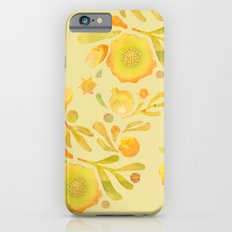 Granada Floral in Yellow Ochre on yellow iPhone 6s Slim Case