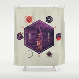 It fell from the stars, It rose from the sea Shower Curtain