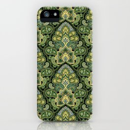 Green and Blue Paisley iPhone Case