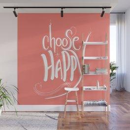 Choose Happy (Peach Echo) Wall Mural