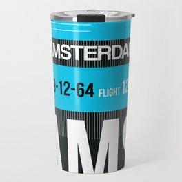 AMS Amsterdam Luggage Tag 1 Travel Mug