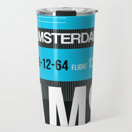 AMS Amsterdam Luggage Tag 1 Travel Mug