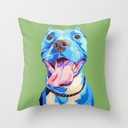 Ziggy the Pit Bull Terrier Throw Pillow