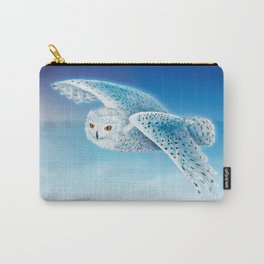 Flying Snowy Owl Carry-All Pouch