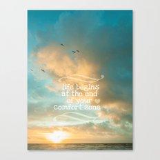 Life Begins Design Canvas Print