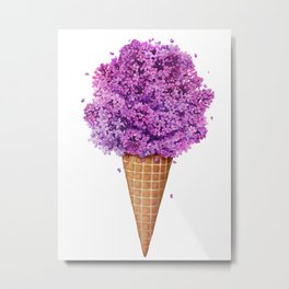 Ice cream with lilac Metal Print