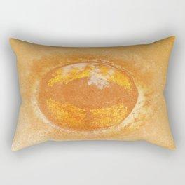 Frog eye in orange pattern Rectangular Pillow