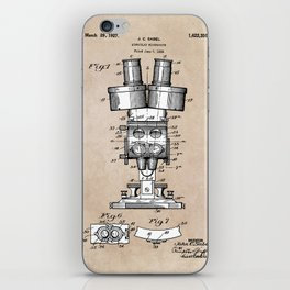 patent art Sabel Binocular Microscope 1926 iPhone Skin