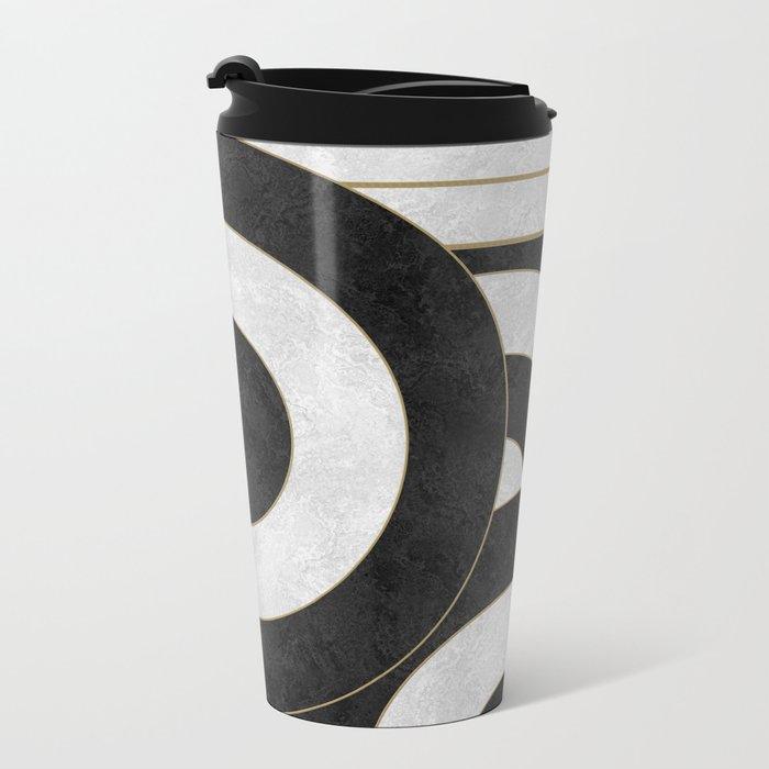 Geometric Marble 01 (abstract) Metal Travel Mug