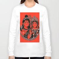 shiva Long Sleeve T-shirts featuring Shiva Shakti by Anastasia Fomina