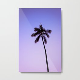 palm tree ver.violet Metal Print