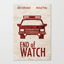 End of Watch Minimal Poster Canvas Print