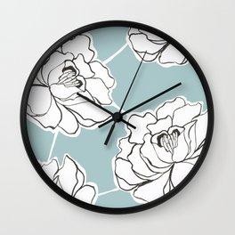 Chinese Peony i Wall Clock