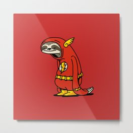 Sloth Flash hero Metal Print