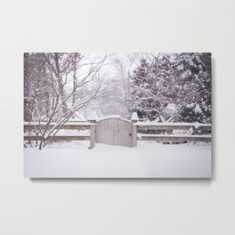 Snow Gate  Metal Print