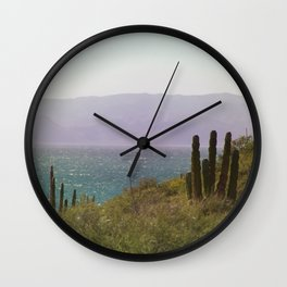 Saguaro Cactus by the Sea Wall Clock