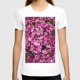 Azalea In Bloom Pattern T-shirt