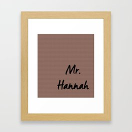 Mr. Wedding Print Framed Art Print