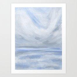 Unclear - Moody Gray Ocean Seascape Art Print