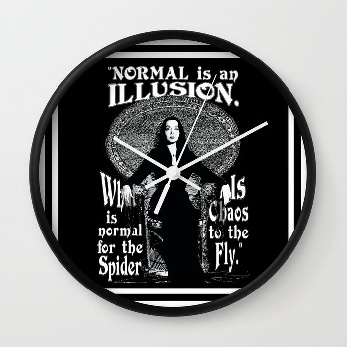 Morticia addams normal is an illusion wall clock by impartbytorg morticia addams normal is an illusion wall clock by impartbytorg society6 altavistaventures Choice Image