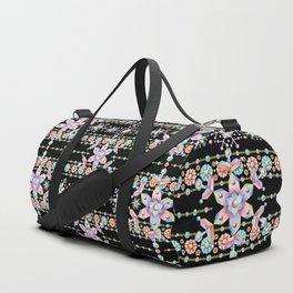 Folkloric Snowflakes Duffle Bag