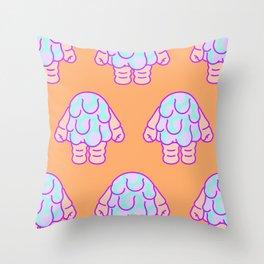 Blobby Baby pattern Throw Pillow