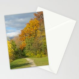Walking Through Autumn Stationery Cards