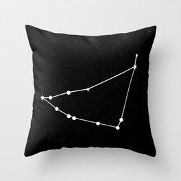 CAPRICORN (BLACK & WHITE) Throw Pillow