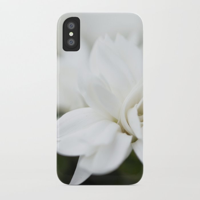 Snow White Flowers on a Dark Background #decor #society6 #buyart iPhone Case