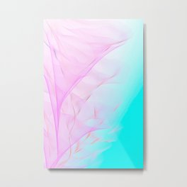 Pastel Motion Vibes - Pink & Turquoise #abstractart #homedecor Metal Print