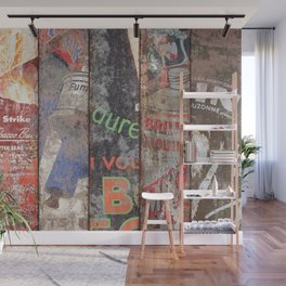 Vintage Poster Collection 2 Wall Mural