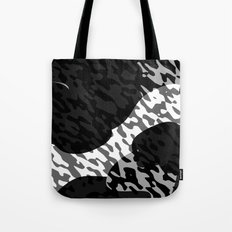 Black gray and White Camouflage Abstract Tote Bag