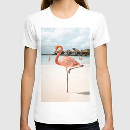 Pink Flamingo Art Print | Aruba Island, Caribbean Photo | Travel Photography T-shirt