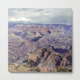 Grand Canyon Passing Storm Metal Print