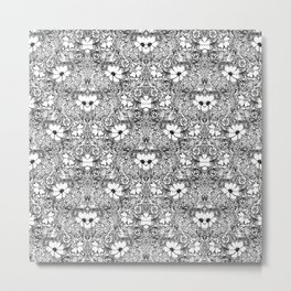 BECAUSE black and white mandala Metal Print