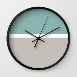 Spring Horizon Line Art Wall Clock