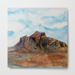 The Superstition Mountains Metal Print