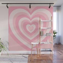Pink Love Hearts  Wall Mural