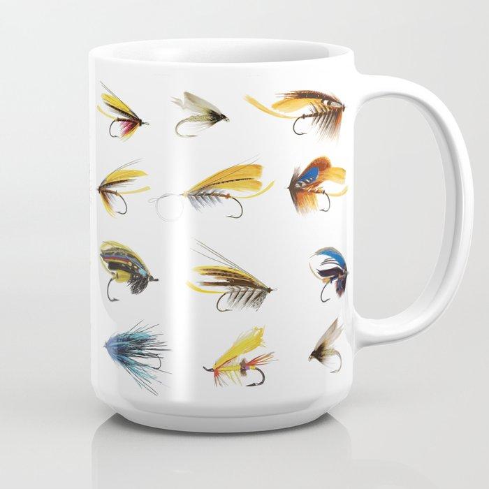 Fly Fishing Flies Coffee Mug By Moosepaw2 Society6