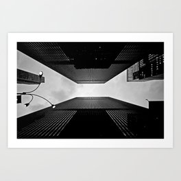 NYC can be dizzying sometimes Art Print