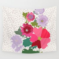 flora Wall Tapestries featuring Flora by bethania lima designs
