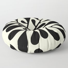 Matisse Inspired Abstract Cut Outs black Floor Pillow
