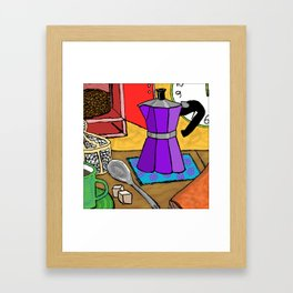Moka Pot Joy Framed Art Print