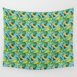 Plantain Paradise Pattern - For true plantain fans Wall Tapestry