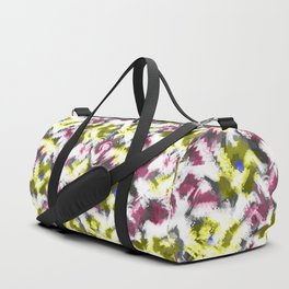 """""""Watercolor glamour . Maroon and yellow. Duffle Bag"""