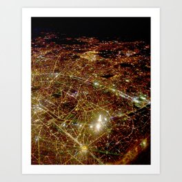 Paris from the sky Art Print